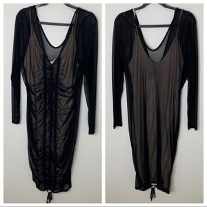 Fashion To Figure | Plus Size Black Sheer Dress